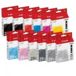 12 Pack Genuine Canon PGI-29 Ink Cartridge Combo [1MBK,1PBK,1C,1M,1Y,1PC,1PM,1R,1GY,1LGY,1DGY,1CO]
