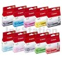10-Pack Canon PIXMA Pro9500 PGI-9 Genuine InkJet Cartridge  [1MBK,1PBK,1C,1M,1Y,1PC,1PM,1GY,1G,1R]