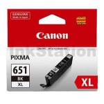 Canon CLI-651XLBK Genuine Photo Black High Yield Inkjet Cartridge