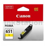 Canon CLI-651Y Genuine Yellow Inkjet Cartridge