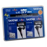Genuine Brother LC-37BK2PK Black Twin Pack [2BK] - 350 Pages each