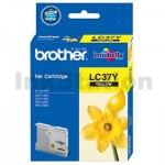 Genuine Brother LC-37Y Yellow Ink Cartridge - 300 pages