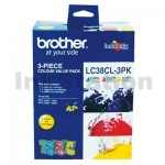 Genuine Brother LC-38CL3PK Colour Pack [C+M+Y] - 260 Pages each