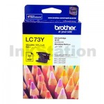 Genuine Brother LC-73Y Yellow Ink Cartridge - 600 pages