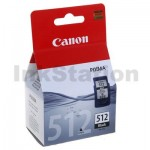 Canon PG-512 Black High Yield Genuine InkJet Cartridge - 401 pages