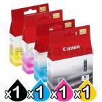 4-Pack Canon PGI-5BK, CLI-8C/M/Y Genuine Inkjet [1BK,1C,1M,1Y]