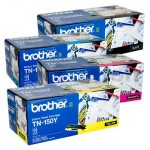 4 Pack Genuine Brother TN-150 Toner Cartridges [1BK,1C,1M,1Y]