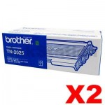 2 x Genuine Brother TN-2025 Toner Cartridge - 2,500 pages