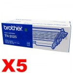 5 x Genuine Brother TN-2025 Toner Cartridge - 2,500 pages