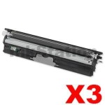 3 x OKI C110/C130n Compatible Black Toner Cartridge 2,500 pages (44250708)