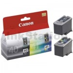 Canon PG-40 & CL-41 Genuine Ink Twin Pack PG40CL41CP [1BK,1C]