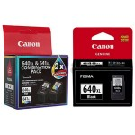 3-Pack Canon PG-640XL + (PG640XL, CL641XL - Twin Pack) Genuine High Yield Ink Cartridge [2BK + 1CL]