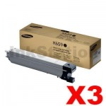 3 x Genuine Samsung CLX-8640ND, CLX-8650ND [CLT-K659S K659] Black Toner SU228A - 20,000 pages @ 5%