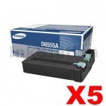 5 x Genuine Samsung SCX-D6555A Toner Cartridge SV210A - 25,000 pages (SCX-D6555A)