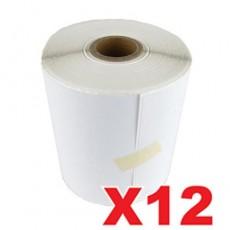 12 Rolls Australia Post Labels Perforated Thermal Label 100mm X 150mm - 350 Labels per Roll (Roll diameter 10.5cm)