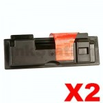 2 x Non-Genuine alternative for TK-164 Black Toner suitable for Kyocera FS-1120D, P-2035D - 2,500 pages