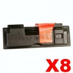 8 x Non-Genuine TK-134 Toner Cartridge For Kyocera FS-1028MFP, FS-1128MFP, FS-1300D, FS-1300DN, FS-1300DTN, FS-1350DN - 7,200 pages