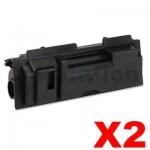 2 x Non-Genuine TK-18 Black Laser Toner Cartridge For Kyocera FS-1020D, FS-1020DN, FS-1118MFP, KM-1500, KM-1815, KM-1820 - 7,200 pages