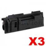 3 x Non-Genuine TK-18 Black Laser Toner Cartridge For Kyocera FS-1020D, FS-1020DN, FS-1118MFP, KM-1500, KM-1815, KM-1820 - 7,200 pages