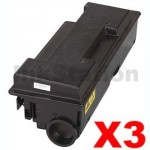 3 x Non-Genuine alternative for TK-320 Black Toner Cartridge suitable for Kyocera FS-3900DN, FS-4000DN -15,000 page