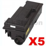 5 x Non-Genuine alternative for TK-320 Black Toner Cartridge suitable for Kyocera FS-3900DN, FS-4000DN -15,000 page
