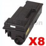 8 x Non-Genuine alternative for TK-320 Black Toner Cartridge suitable for Kyocera FS-3900DN, FS-4000DN -15,000 page