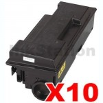 10 x Non-Genuine alternative for TK-364 Black Toner Cartridge suitable for Kyocera FS-4020DN - 20,000 pages