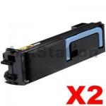2 x Non-Genuine TK-574BK Black Toner Cartridge For Kyocera FS-C5400DN, P-7035CDN - 16,000 Pages