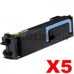 5 x Non-Genuine TK-574BK Black Toner Cartridge For Kyocera FS-C5400DN, P-7035CDN - 16,000 Pages