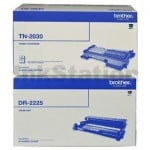 Brother Genuine TN-2030 Toner Cartridge + DR-2225 Drum Unit Combo