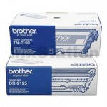 1 x Brother Genuine TN-2150 Toner Cartridge + 1 x Brother Genuine DR-2125 Drum Unit Combo