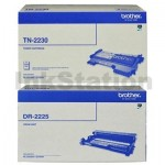 Brother Genuine TN-2230 Toner Cartridge + Genuine DR-2225 Drum Unit Combo