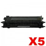 5 x Brother TN-240BK Compatible Black Toner Cartridge - 2,200 pages