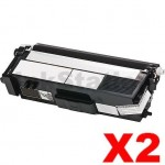 2 x Compatible Brother TN-349BK Black Toner Cartridge - 6,000 pages