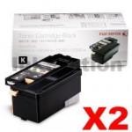 2 x Genuine Fuji Xerox DocuPrint CP105 CP205 CM205 CM215 CP215 Black Toner Cartridge(CT201591) - 2,000 pages
