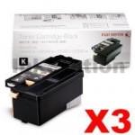 3 x Genuine Fuji Xerox DocuPrint CP105 CP205 CM205 CM215 CP215 Black Toner Cartridge(CT201591) - 2,000 pages