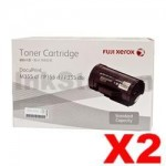 2 x Genuine Fuji Xerox DocuPrint M355df, P355d Black Toner - 4,000 pages (CT201937)