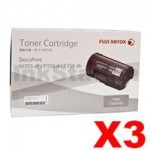 3 x Genuine Fuji Xerox DocuPrint M355df, P355d Black High Yield Toner - 10,000 pages (CT201938)