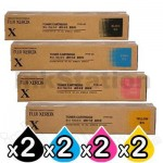 2 sets of 4 Pack Fuji Xerox DocuPrint CP405D, CM405DF Genuine Toner Cartridges (CT202033-CT202036)