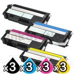 3 Sets of 4-Pack Compatible Brother TN-349 Toner Combo [3BK,3C,3M,3Y]