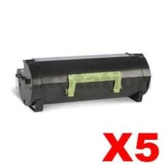5 x Lexmark 503H (50F3H00) Compatible MS310 / MS312 / MS410 / MS415/ MS510 / MS610 High Yield Toner Cartridge - 5,000 pages