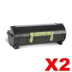 2 x Lexmark 503H (50F3H00) Compatible MS310 / MS312 / MS410 / MS415/ MS510 / MS610 High Yield Toner Cartridge - 5,000 pages