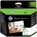 HP 955XL Genuine High Yield Inkjet Cartridge Combo Value Pack 2PD46A [BK+C+M+Y+Photo Paper]