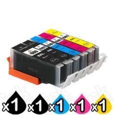 5 Pack Canon PGI-680XXL CLI-681XXL Extra High Yield Compatible Inkjet Cartridges Combo [1BK,1PBK,1C,1M,1Y]