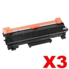 3 x Brother TN-2450 High Yield Compatible Toner Cartridge - 3,000 pages