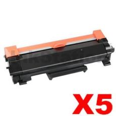 5 x Brother TN-2450 High Yield Compatible Toner Cartridge - 3,000 pages