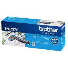 Brother TN-257C Genuine Cyan Toner Cartridge - 2,300 pages