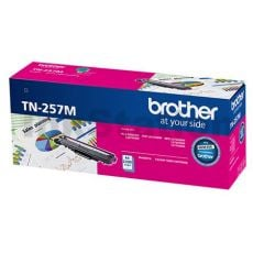 Brother TN-257M Genuine Magenta Toner Cartridge - 2,300 pages