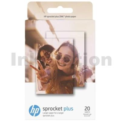 Genuine HP Sprocket Plus Zink Sticky-backed Photo Paper 2LY73A (20 sheet, 2.3 x 3.4 inches)