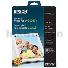 Epson S041464 Genuine Premium Glossy Photo Paper 255gsm 5 inches x 7 inches - 20 sheets